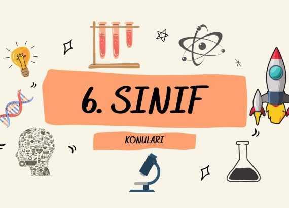6. sınıf fen bilimleri konuları görseli